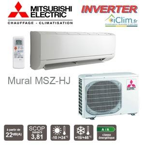 Unité intérieure seule pour Monosplit / Multisplit Mitsubishi Electric MSZ-HR25VA, 2500 W